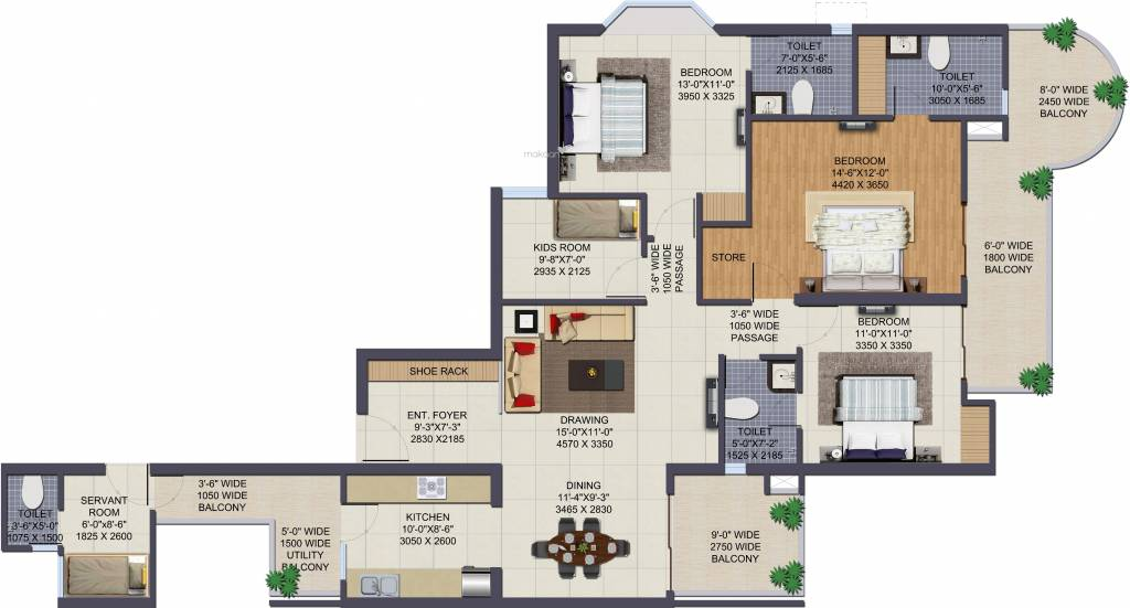 4bhk Residential Apartment Flats In Sector 137 Noida By Ajnara Grand Heritage